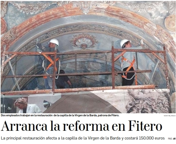 Comienzan reformas en la iglesia del Monasterio de Fitero