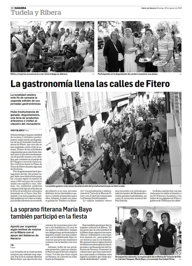 La gastronomía llena las calles de Fitero