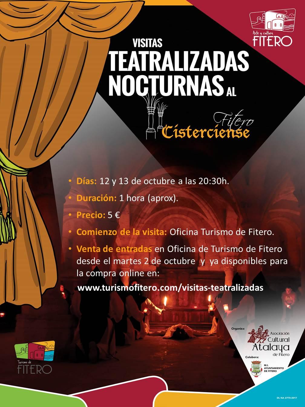 Visitas Teatralizadas Nocturnas al Fitero Cisterciense los días 12 y 13 de octubre