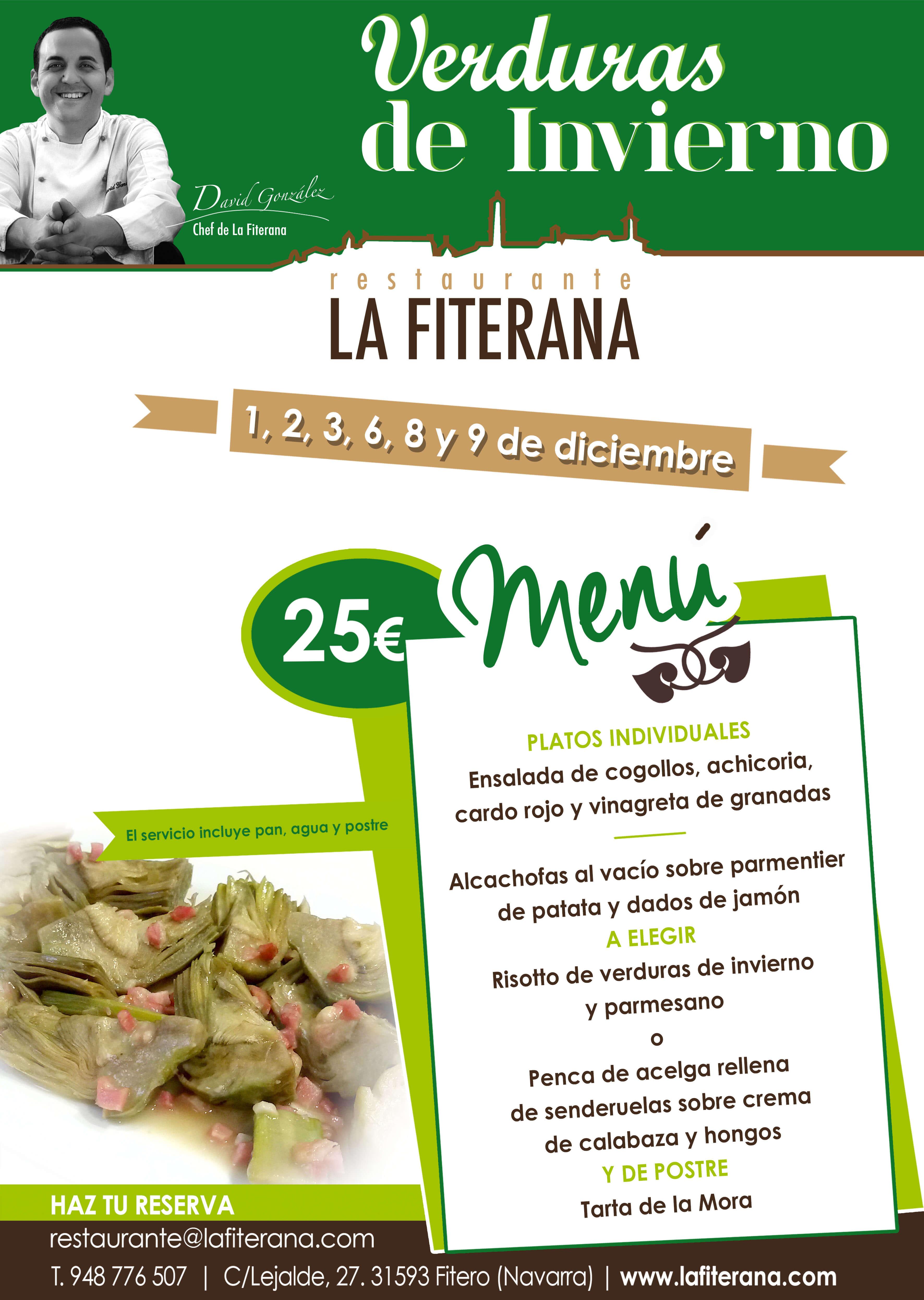 Verduras de Invierno en Restaurante La Fiterana