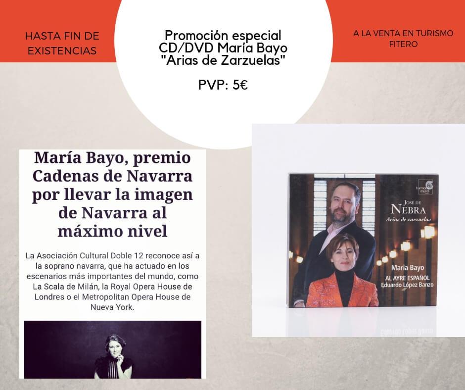 """Celebramos el premio a María Bayo difundiendo su CD/DVD """"Arias de Zarzuelas"""""""
