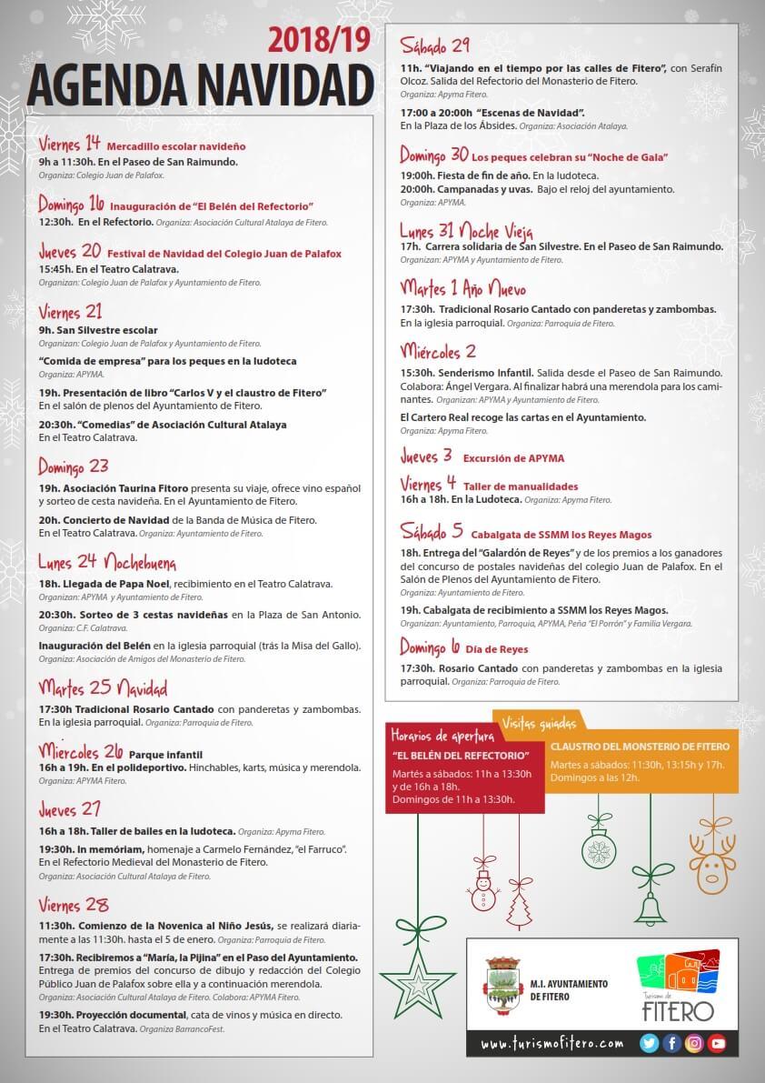 Agenda de Navidad en Fitero