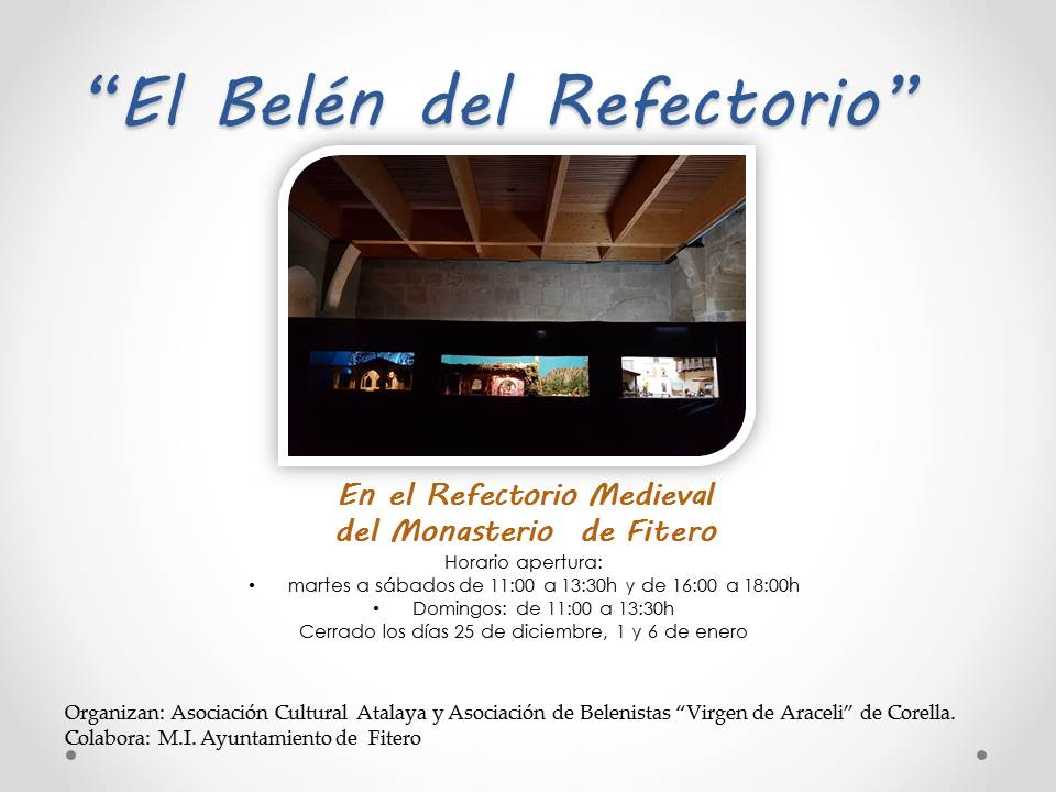 """El Belén del Refectorio"""