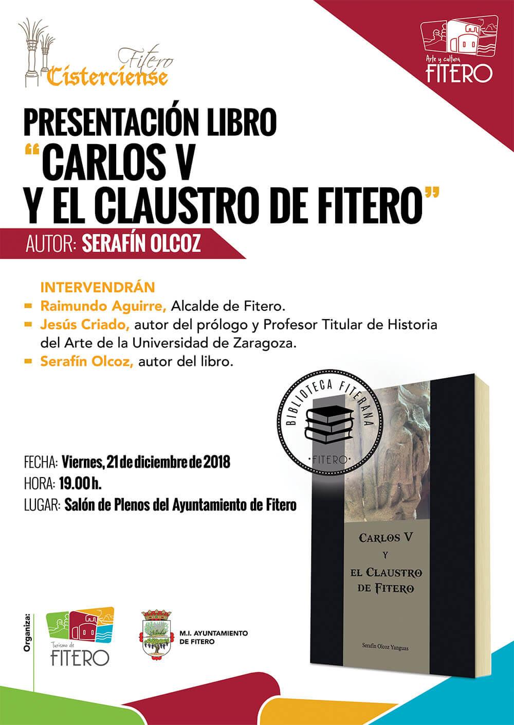 """Presentación del libro """"Carlos V y el claustro de Fitero"""""""