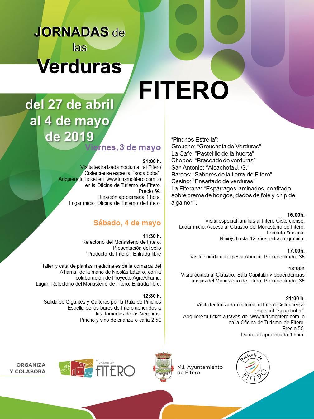 Jornadas de las Verduras en Fitero, 3 y 4 de mayo