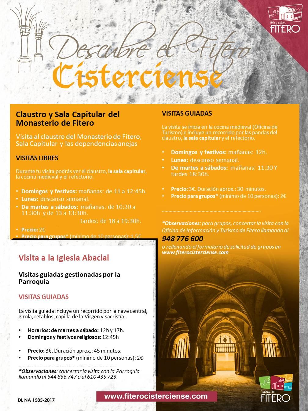 Nuevos horarios de visitas al Monasterio de Fitero desde el 15 de junio.