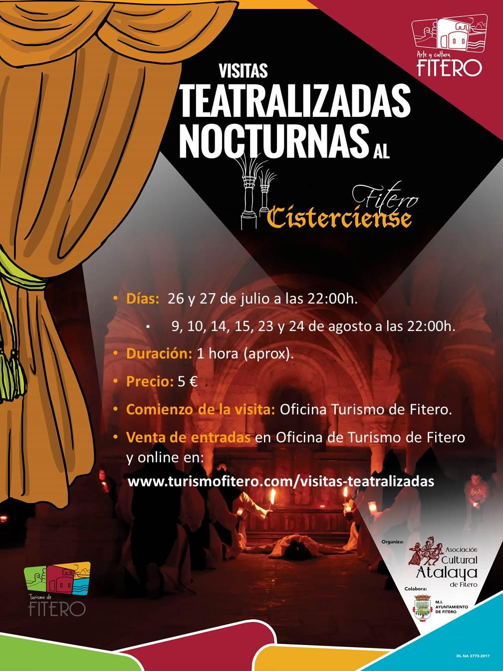 Próximas Visitas Teatralizadas Nocturnas al Fitero Cisterciense