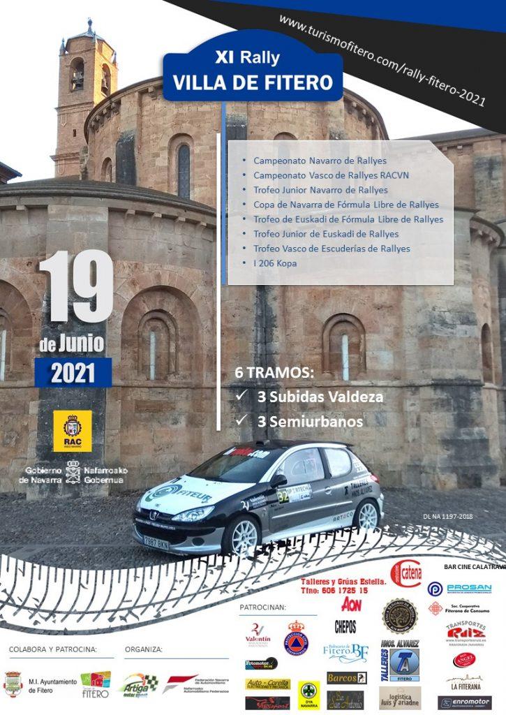 Cartel XI Rally Villa de Fitero